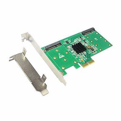PCI-E X2 to 4port mSATA SSD Raid Controller Card for 1U chassis Raid 0// 1 10