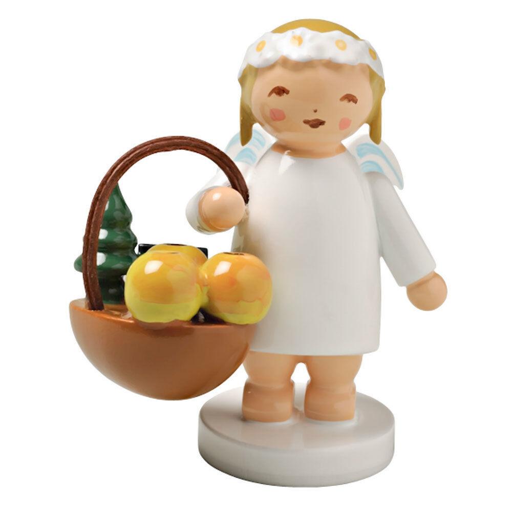 WENDT & KÜHN KÜHN KÜHN Blonde Angel Figurine Fruit Basket 4e49bc