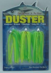 Boone 00154 Dave Workman 1/8 Oz 3 Pk Dusters Light Green/Chartreuse 13866