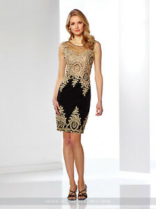 d62b40c5ed2 NEW Mon Cheri 116855B GOLD LACE Black COCKTAIL DRESS Size 8 Social ...