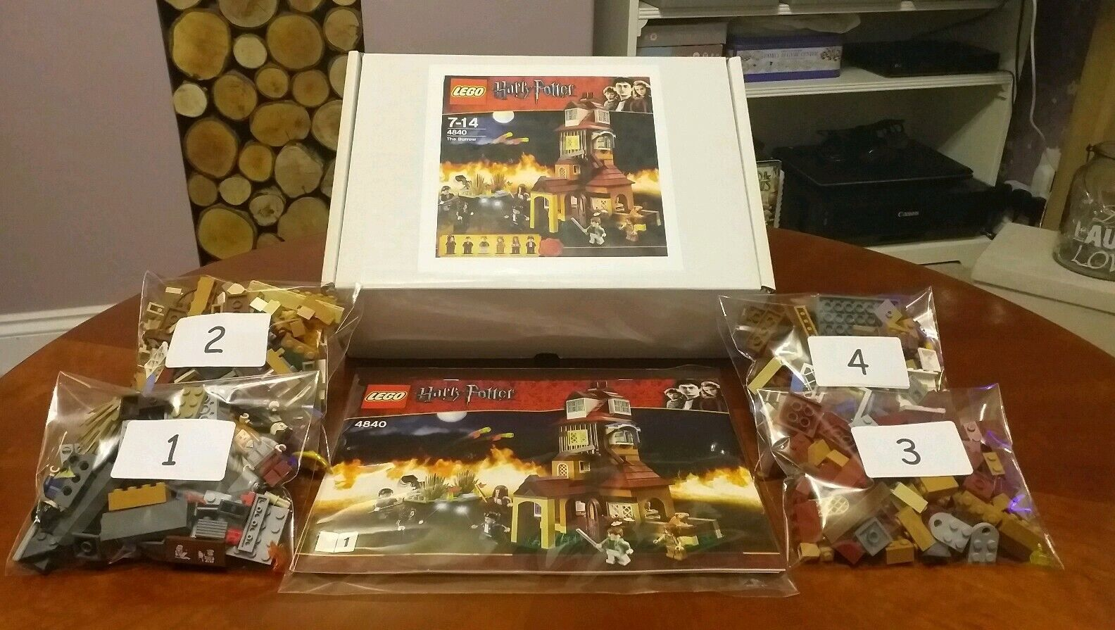 Lego Harry Potter 4840 The Burrow - complete, bagged, instructions, gift boxed