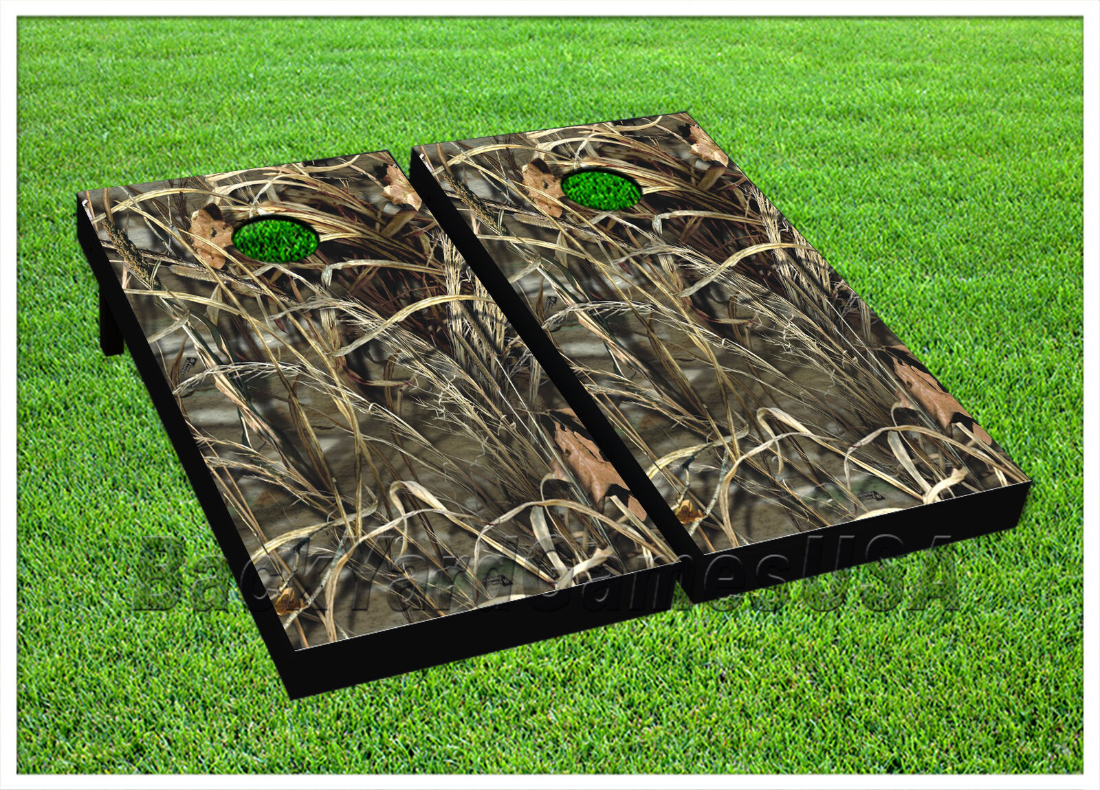 Hunting Camouflage CORNHOLE BEANBAG TOSS GAME w Bags Game Boards Set 1073