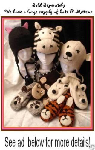 deLux sheep LAMB knit ADULT ear muffs EARMUFFS lambchop Hat and Mittens separate