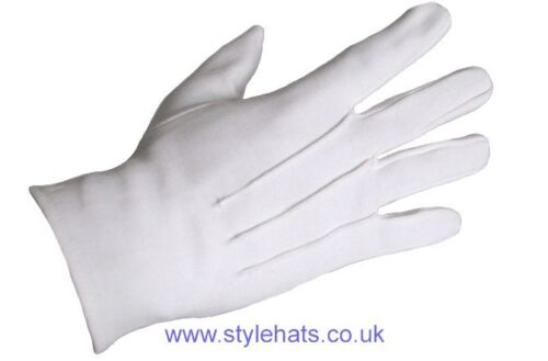 Ceremonial White  Dress Gloves Parade Masonic Services Sizes from XS to XXL