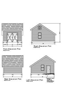 image is loading 16x20 garage plan pole barn salt box garage - Pole Barn Garage Plans