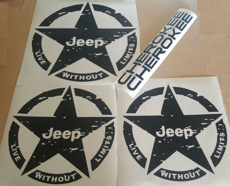 Jeep Cherokee Decals graphics / vinyl cut stickers kits