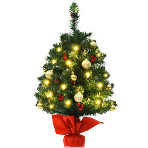24-034-PVC-Pre-Lit-Tabletop-Christmas-Tree-Battery-Operated-w-Ornaments-amp-Lights