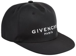 1f5b61f5790 Image is loading Givenchy-Paris-Logo-Baseball-Cap-Hat-Black