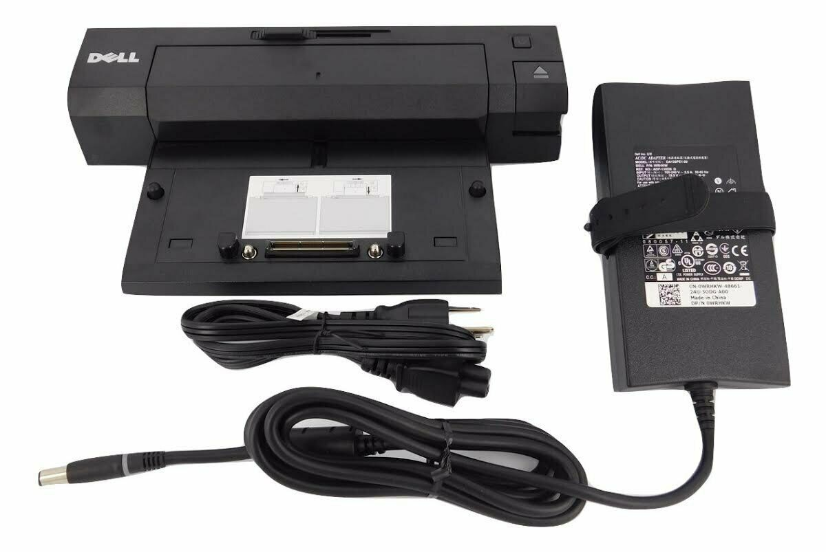 PVCK2 PVCK2 NEW Dell E-Port Plus II Docking Station // Port Replicator Kit With USB 3.0 and Power Adapter Certified Refurbished