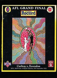 1993-Grand-Final-record-Match-Day-Edition-Carlton-vs-Essendon-unmarked-Premiers