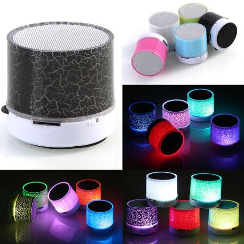 NEW Mini Bluetooth Speaker USB LED Light Wireless Portable Music Box Subwoofer