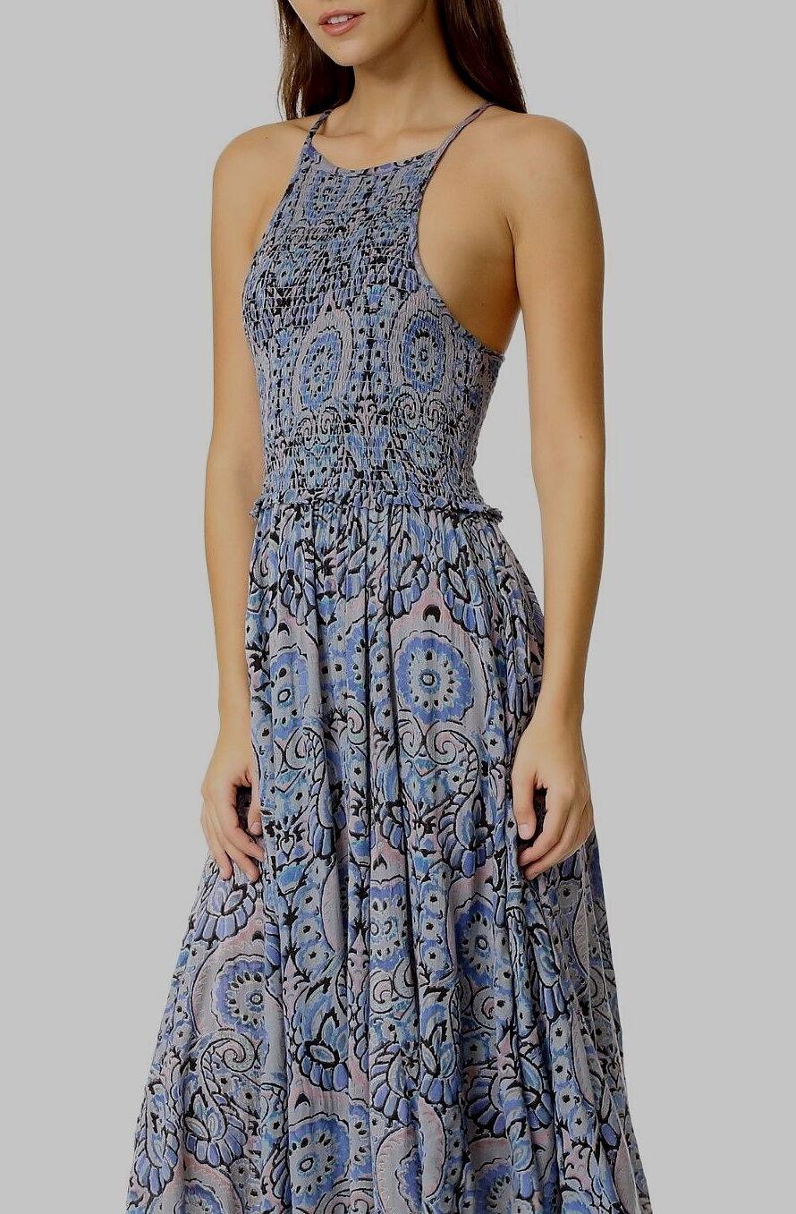 NWT  Free People Seasons In The Sun Midi Slip Dress Blau M