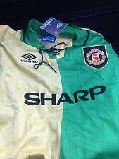 Manchester United Maglia Top CANTONA 7 Taglia M Newton Heath Retro Jersey