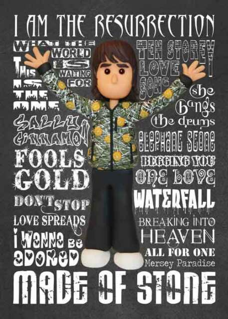 Inspired By Stone Roses Ian Brown Greeting Birthday Card Ebay