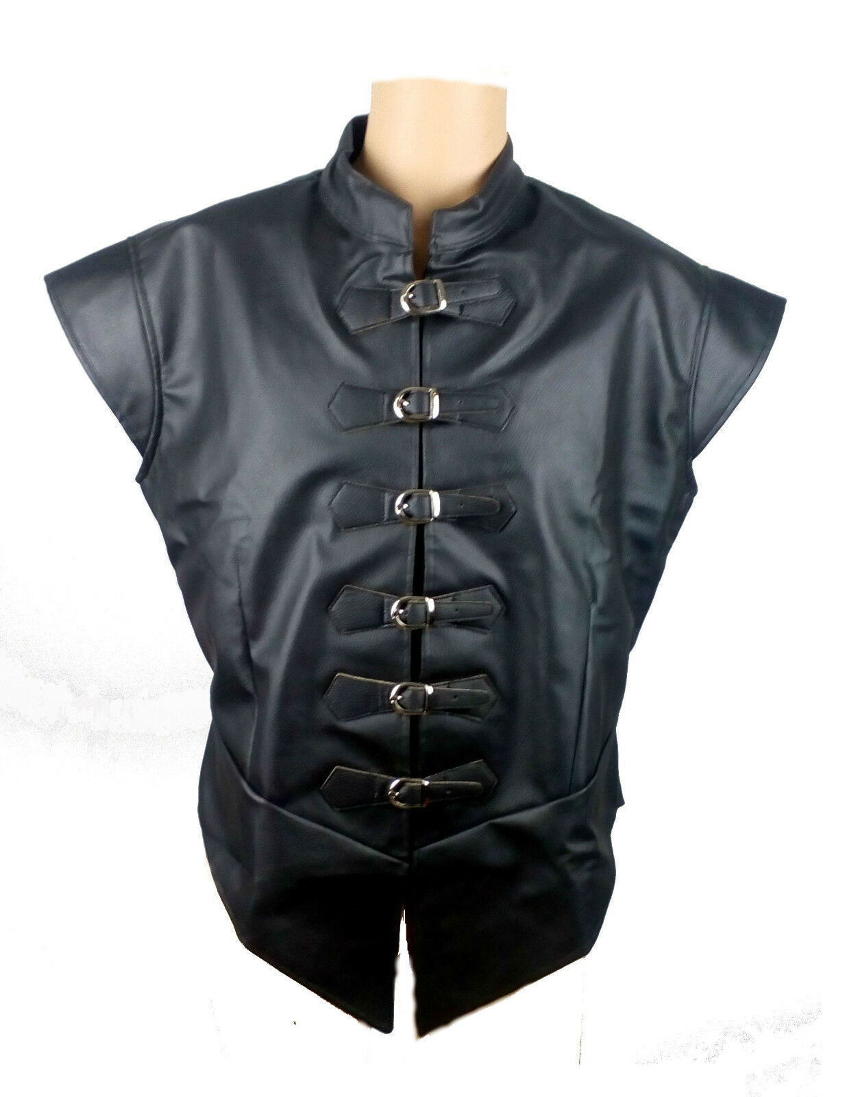 LARP Medieval Doublet Faux Leather Fancy Dress Cosplay 2 Color 36