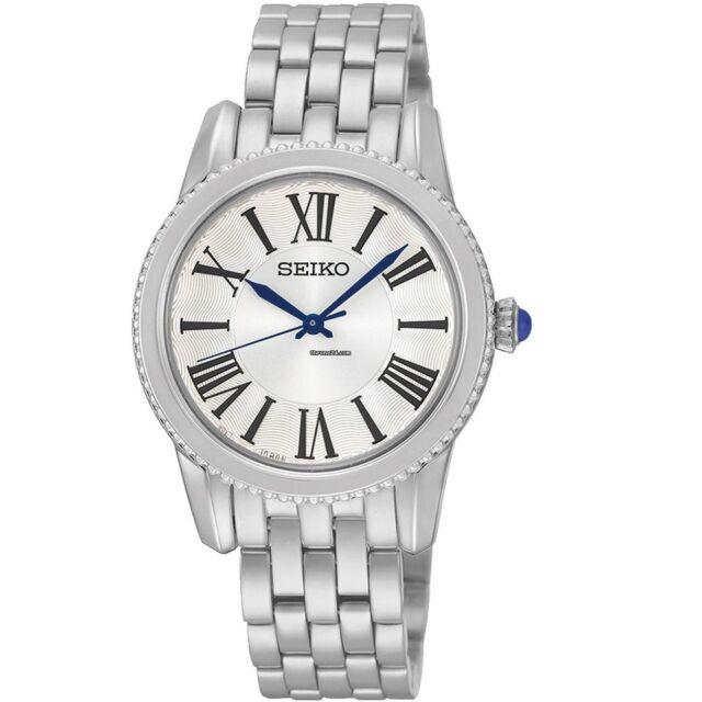 Seiko Neo Classic SRZ437 P1 Silver White Dial Women's Quartz Analog Watch