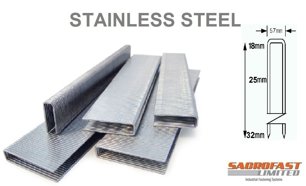 90 TYPE NARROW CROWN STAPLES STAINLESS STEEL