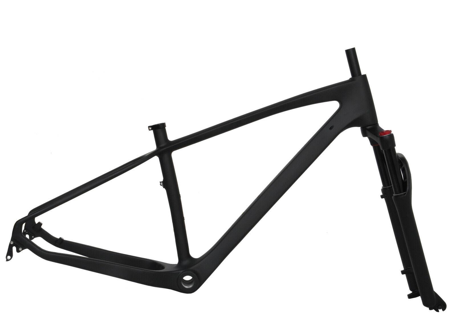 17.5  Cuadro De Fibra De Cochebono Horquilla de Suspensión para Bicicleta de grasa Bicicleta de Montaña Nieve Bicicleta unidireccional Matt 26er BSA