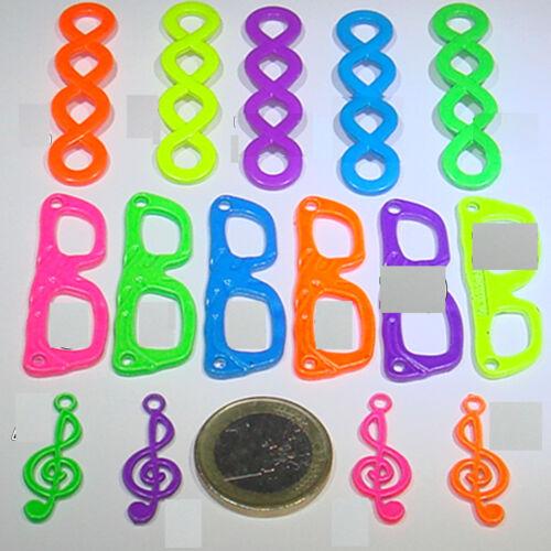3 Abalorios Fluor a Escoger Medidas Varias M758  Neon Beads Flourescent Perles