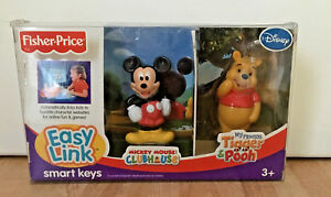 Fisher-Price-Easy-Link-Smart-Keys-Mickey-Mouse-amp-Winnie-the-Pooh-2007-NEW
