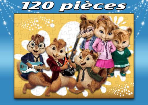 PUZZLE 120 PIECES A4 alvin et les chipmunks /& chipettes