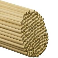 Wooden Dowel Rods - 3/8 X 12 Unfinished Hardwood Sticks - For Crafts And...