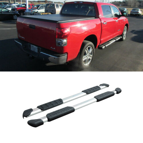 """2pcs For 05-18 Tacoma Crew//Double Cab 5/"""" Silver Aluminum Side Step Nerf Bars"""