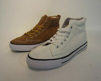 Mens Unbranded  Hi Top Casual Trainers -TLT75303 White or Tan
