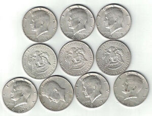 Details about 20 Mixed 1966-1969 40% Clad Silver Kennedy Half Dollars Below  Silver Melt Value~