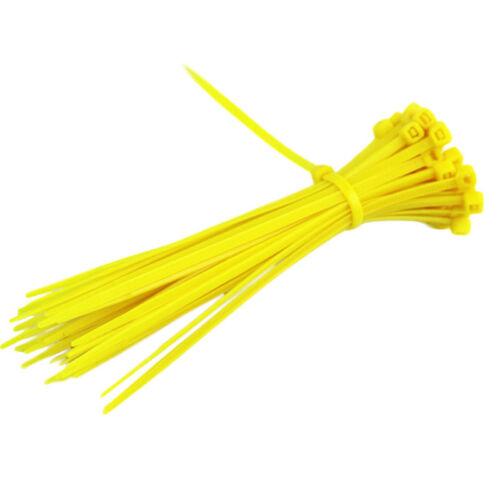 New 100Pcs Self-locking Network Nylon Plastic Cable Wire Zip Tie Cord Strap Hot