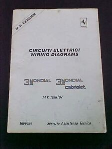 ferrari mondial wiring diagram workshop manual book_cabriolet 3.2, Wiring diagram