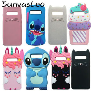 huge discount 46935 0b911 Details about For Samsung Galaxy S10e S10 S10 Plus 3D Case Cartoon Soft  Silicone Phone Cover
