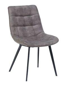 2er Floyd Stoff Stuhl Set Hochwertiger Metall Esszimmerstuhl Grau Design Zu Details Stühle 6y7bfYg