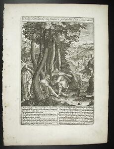 Pity-of-Samaritan-Jesus-Christ-c1650-Michael-Natalis-Sc-Engraving-Print-Xviie