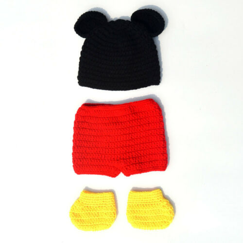 Baby Boys Girls Mickey Minnie Mouse Costume Birthday Party Outfit Photo Prop Set