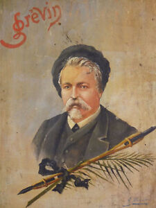 Portrait-D-039-Alfred-Grevin-1827-1892-Oil-of-Villemot-Museum-Grevin-Paris-France