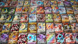 Pokemon-100-Card-Lot-GUARANTEED-V-or-Vmax-amp-1-Pack-Sword-Shield-Ultra-Secret