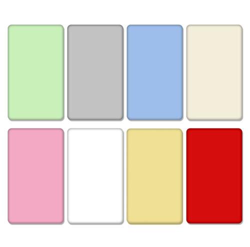 100/% coton drap housse beaucoup de couleurs pour bébé Crib Cot Cotbed Lit Junior