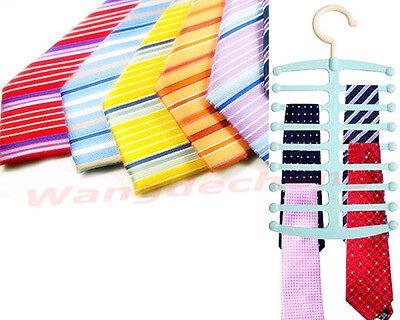New Closet Organizer Nonslip Necktie Belts Tie Rack Shawl Scarf Holder Hanger