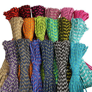 50 Grey Paracord 550 Type III 7 Strand 4mm Milspec Cord Rope 15 100 feet 25