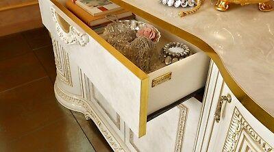 Anrichte Sideboard Buffet Wohnzimmer Kommode Hochglanz Beige Italienische Möbel