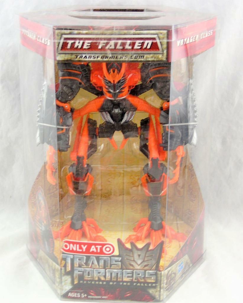 Transformers Revenge of the Fallen Revenge of the Fallen Voyager Class Orange Fallen Figure Menthe en Boîte Scellée