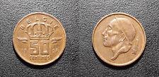 Belgique - Baudoin Ier - 50 centimes 1957 TTB ! KM#149.1