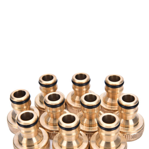 "2x 3//4/"" Threaded Brass Tap Adaptor Garden Water Hose Pipe Connector Fitting#UWUK"