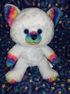 Build a Bear Smallfrys Buddies Rainbow Whiskers Kitty Cat Stuffed Plush Doll Toy