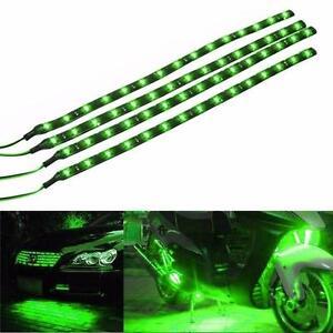 1* Green 15 LED 30cm Car Auto Grill Flexible Waterproof Strip Light SMD 12V Sale