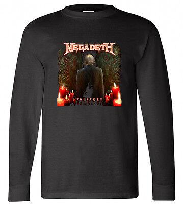 New MEGADETH 13 Thirteen Rock Band Long Sleeve Black T-shirt Size S-3XL