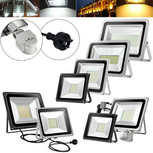 10W-20W-30W-50W-100W-150W-200W-300W-500W-LED-Flood-Light-PIR-Sensor-Lamp-Au-Plug