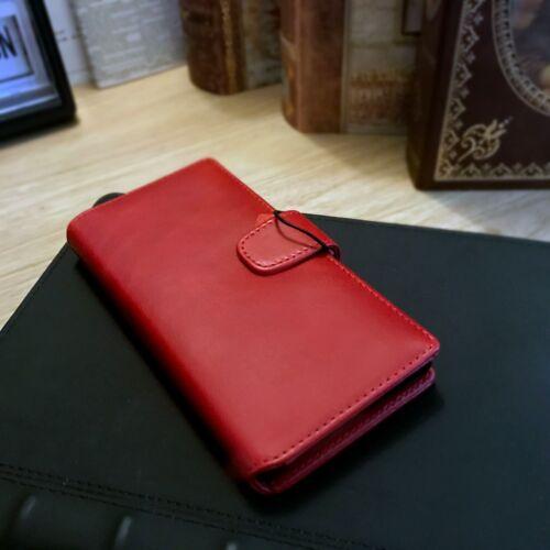 Mreal Leather Wallet LUSSO EV22 Book Case Rosso Paraurti Per Sony Xperia XZ2