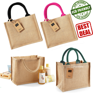 a8cd29e6682 WESTFORD MILL MINI JUTE BAG ECO FRIENDLY NATURAL REUSABLE GIFT LUNCH ...